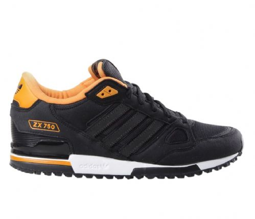 Adidas Originals Mens Black ZX 750 Sude Leather and Mesh Running Trainers